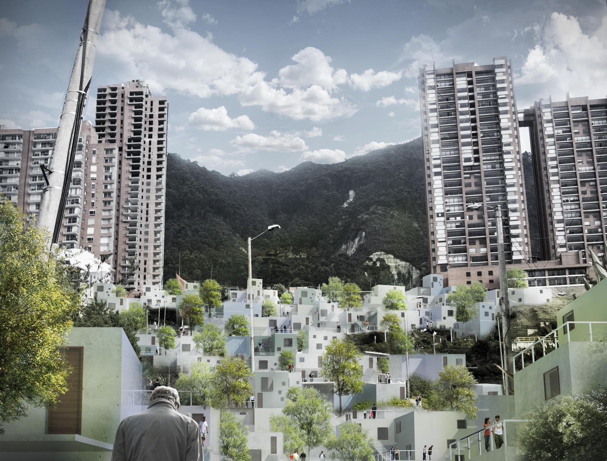 """""""Inter-Active Dwellings"""" en Bogotá: Construyendo barrios con las reglas conceptuales de una Red Social, Courtesy of Paolo Francesco Ronchi"""