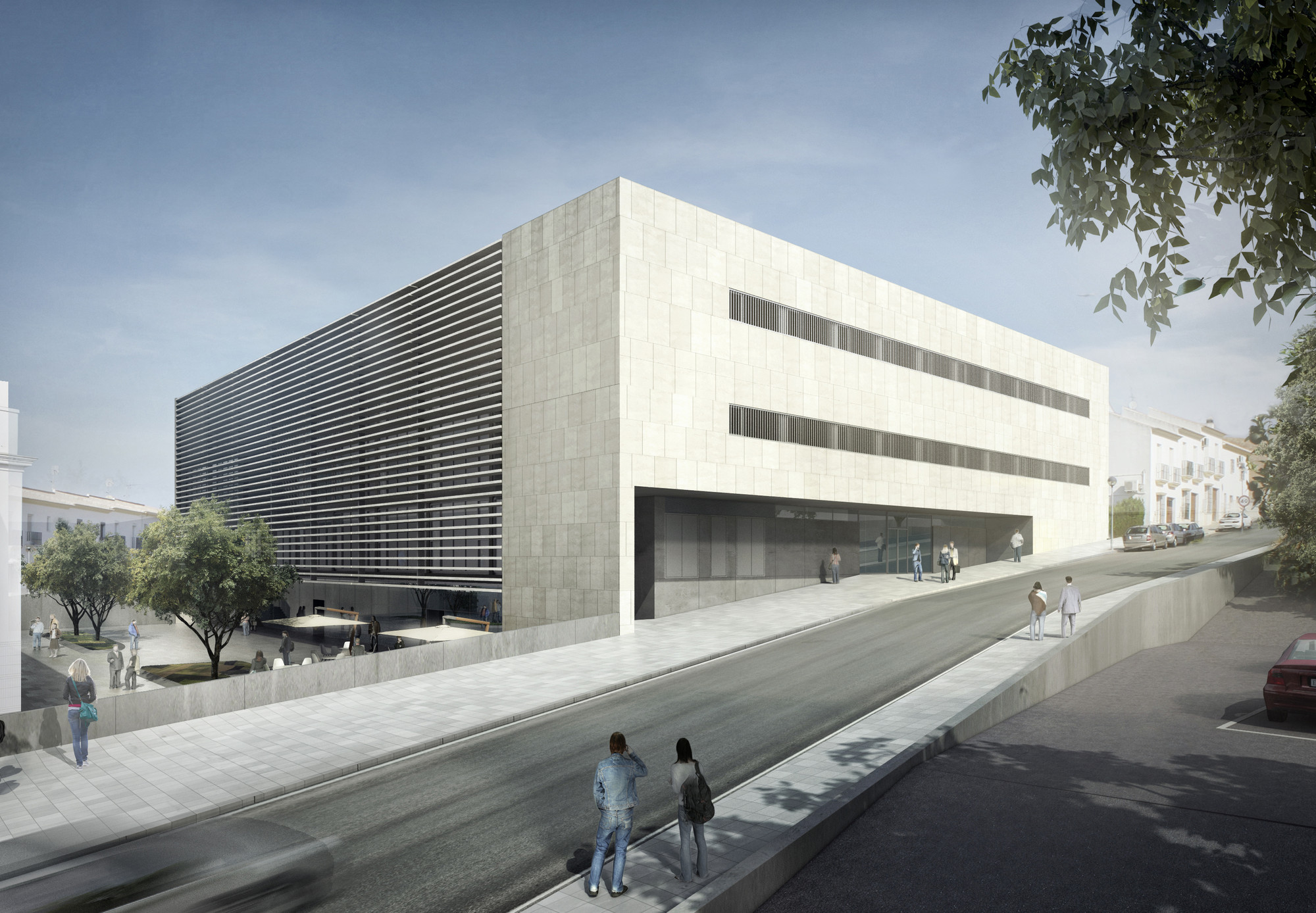 Primer lugar concurso para la ampliaci n de la escuela for Restaurante escuela de arquitectos madrid