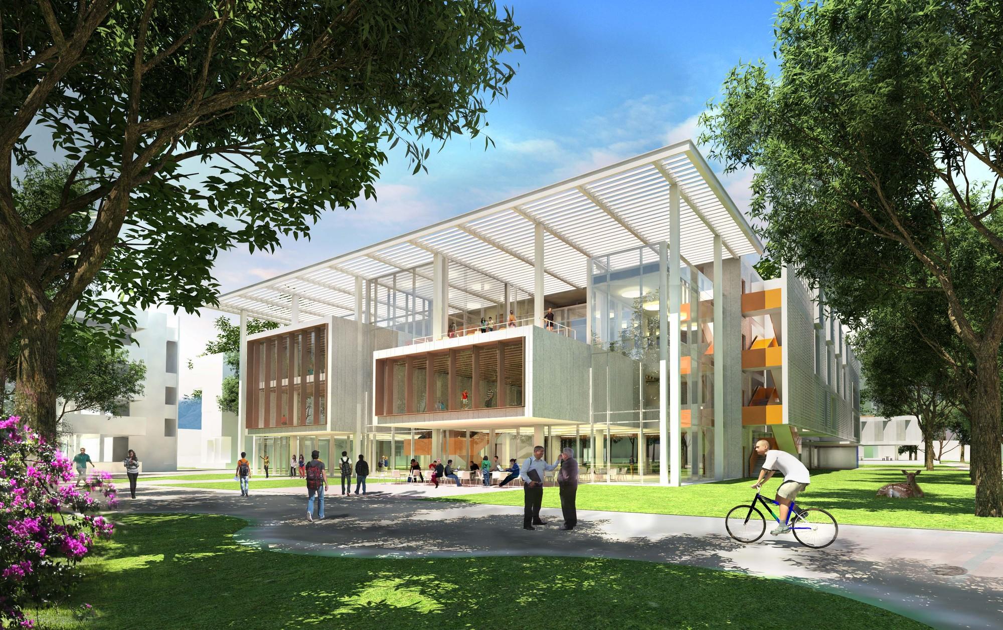 Proyecto Distrito Tec del Tecnológico de Monterrey, Biblioteca. Image Courtesy of Centro de Prensa del Tecnológico de Monterrey