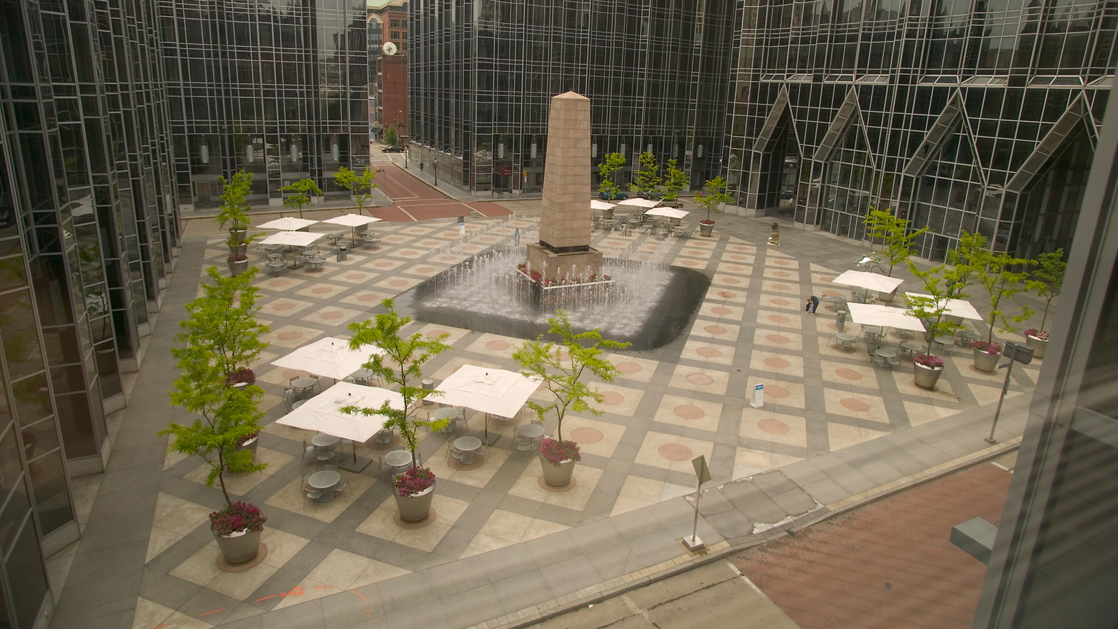 Gallery of ad classics ppg place john burgee architects for Place landscape architecture