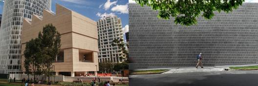 A la izquierda Museo Jumex / David Chipperfield. Fotografía de René Castelán Foglia. A la derecha La Tallera / Frida Escobedo. Fotografía de Rafael Gamo