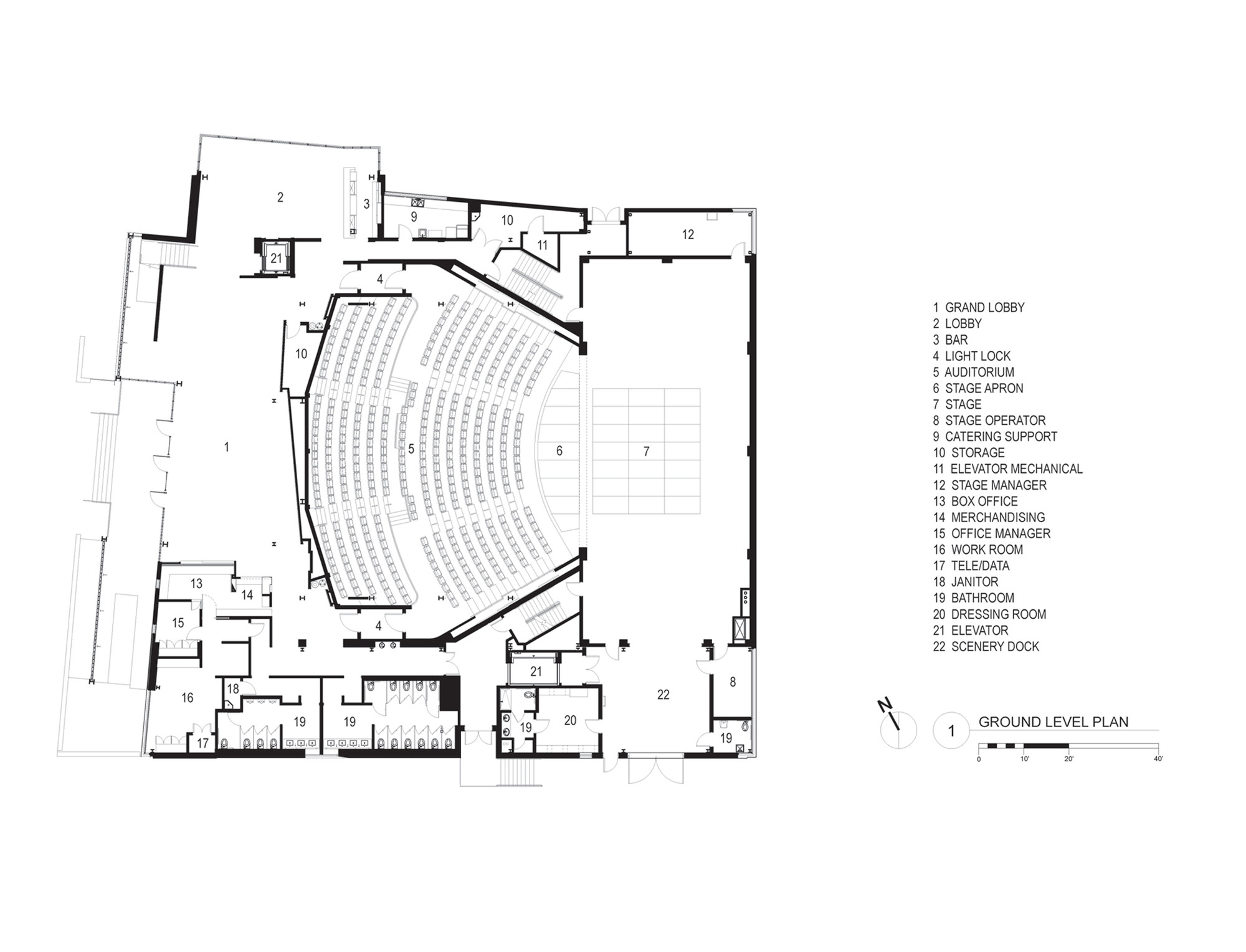 Galería de Teatro Topfer en ZACH / Andersson Wise ...