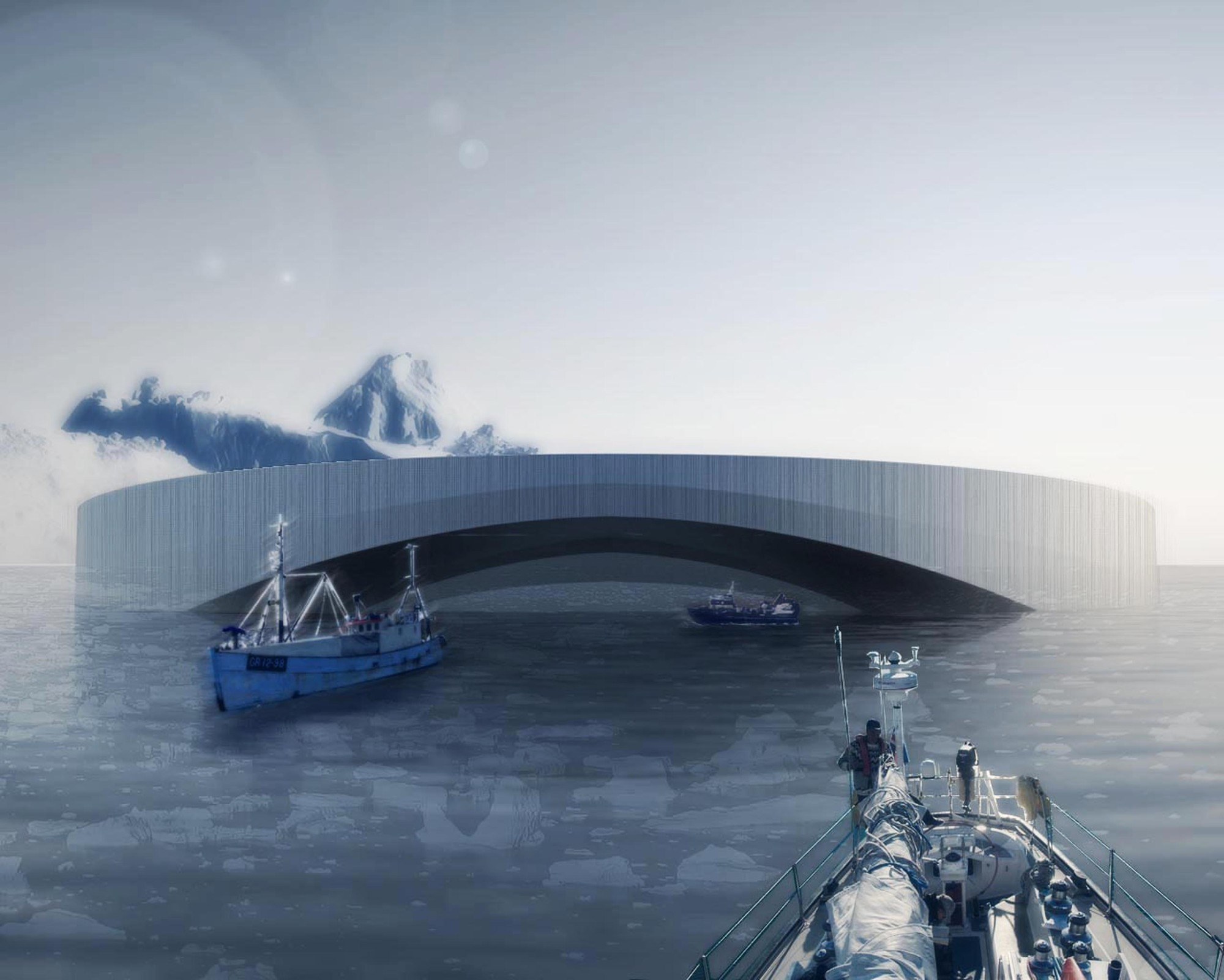 Arctic Harvester Proposes Large-Scale Hydroponic-Farming Near Greenland, Courtesy of Design Team