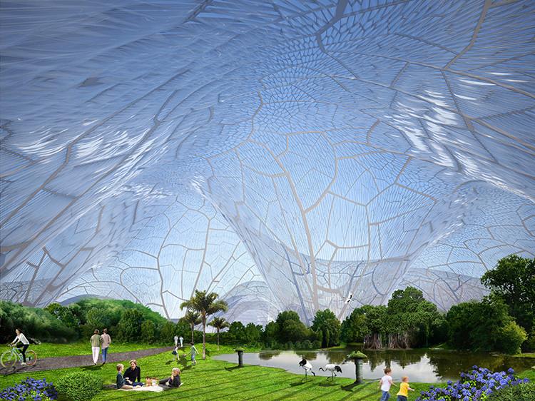 China: Burbujas gigantes de aire fresco para combatir la contaminación ambiental, © Orproject