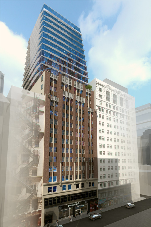 The design for the 17 John Cotel in Manhattan. Image Courtesy of Prodigy Network