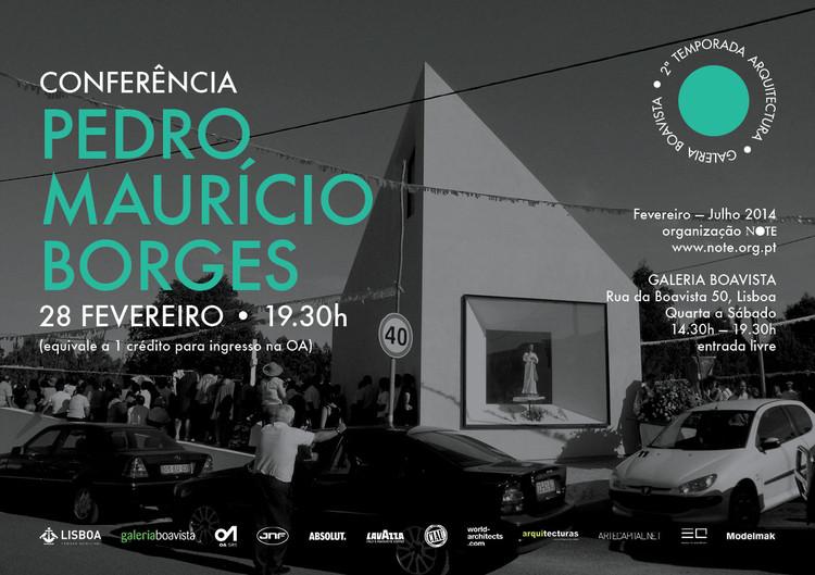 Conferência com Pedro Maurício Borges na Galeria Boavista, em Lisboa