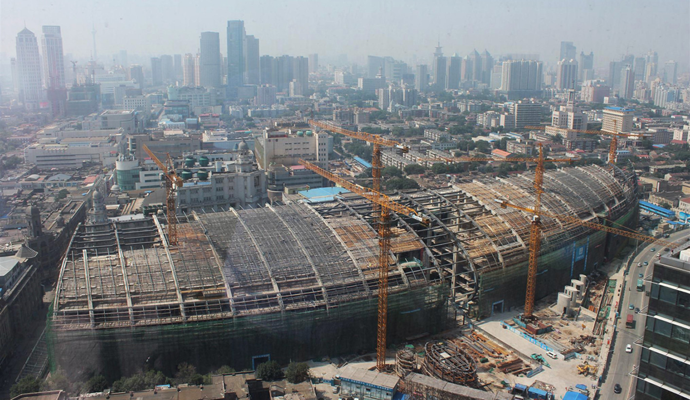 In Progress: Tianjin Riverside 66 / KPF, Courtesy of Kohn Pedersen Fox (KPF)