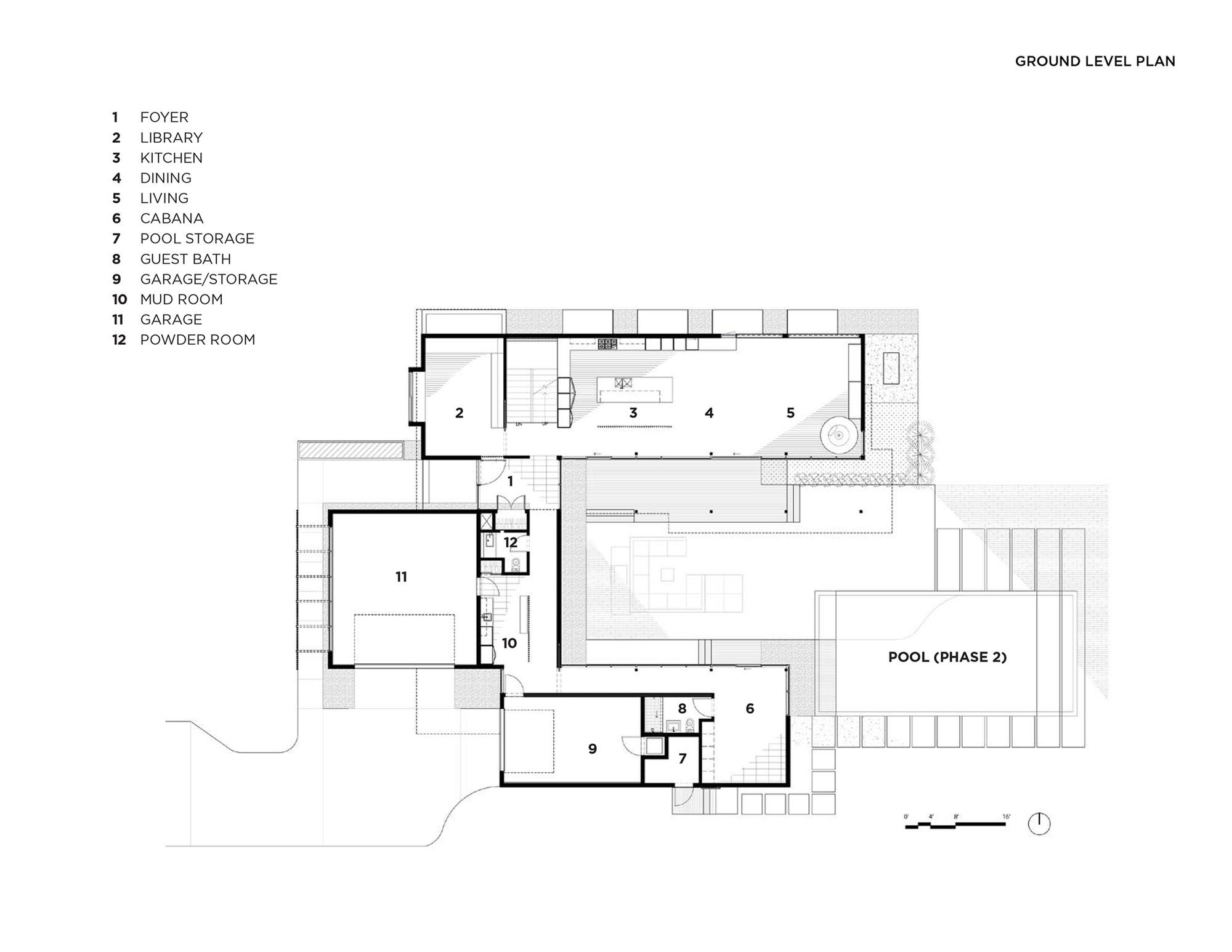 Baulinder Haus,Ground Floor Plan