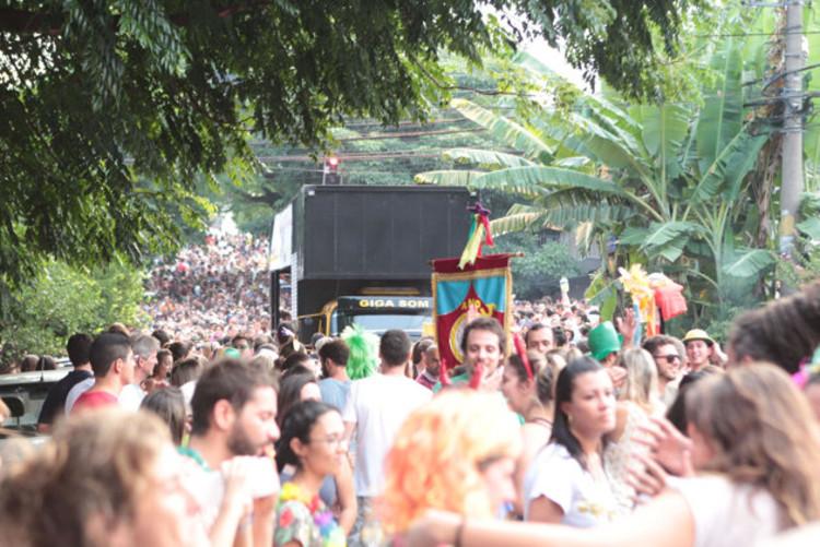 Carnavalizar as ruas de São Paulo, Bloco de carnaval na Vila Madalena, SP, durante o último domingo (23/01/2014). Image Cortesia de Raquel Rolnik