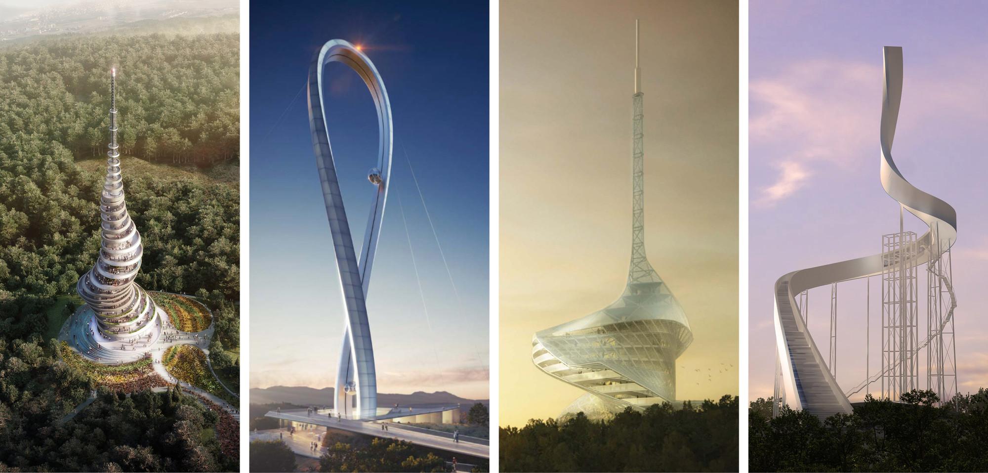 """Primer Lugar y finalistas del Concurso """"Çanakkale Antenna Tower"""" / Turquía, Cortesía de Arkitera"""