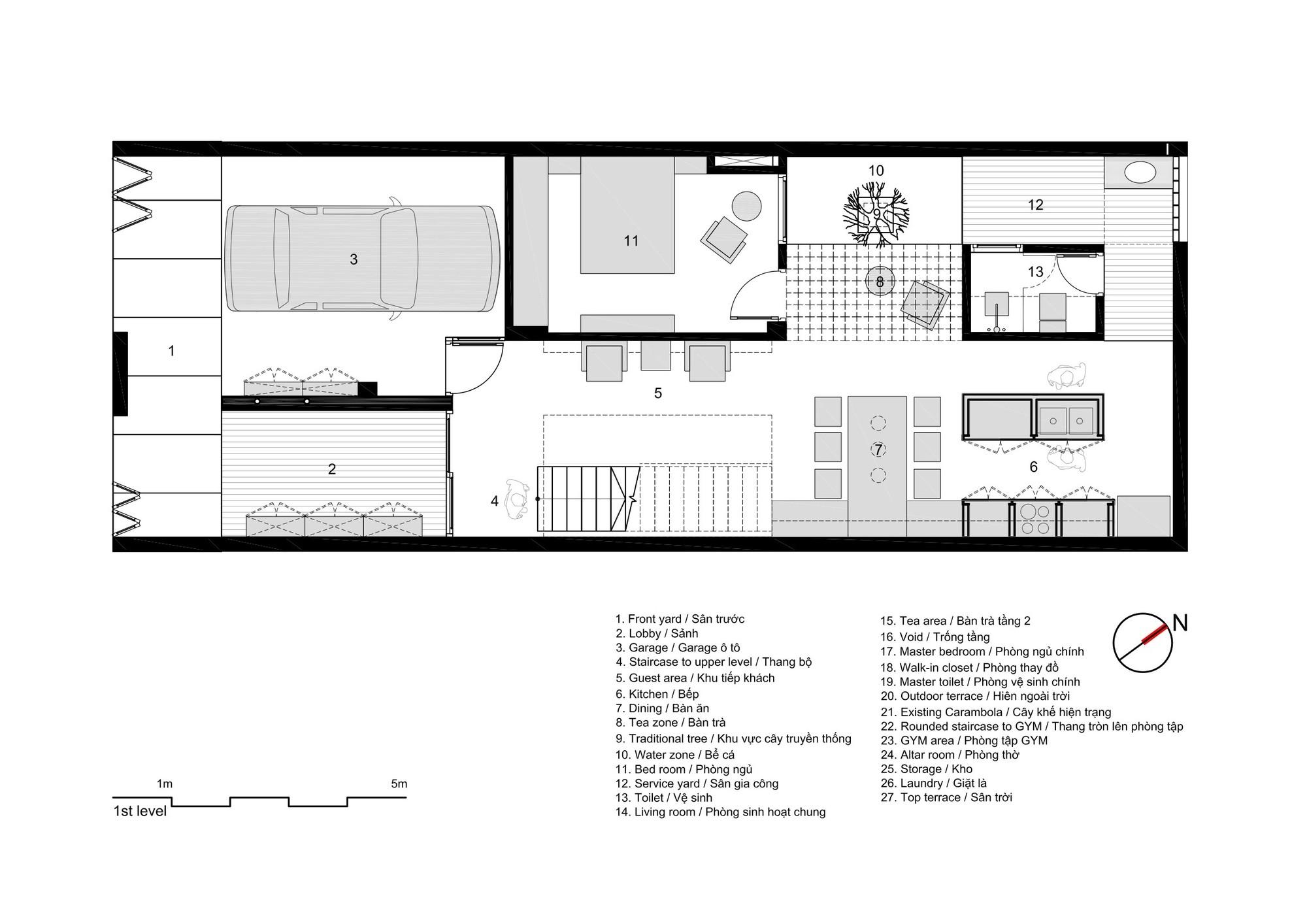 Galeria de casa 7x18 ahl architects associates 43 for Disenos de casas de una planta