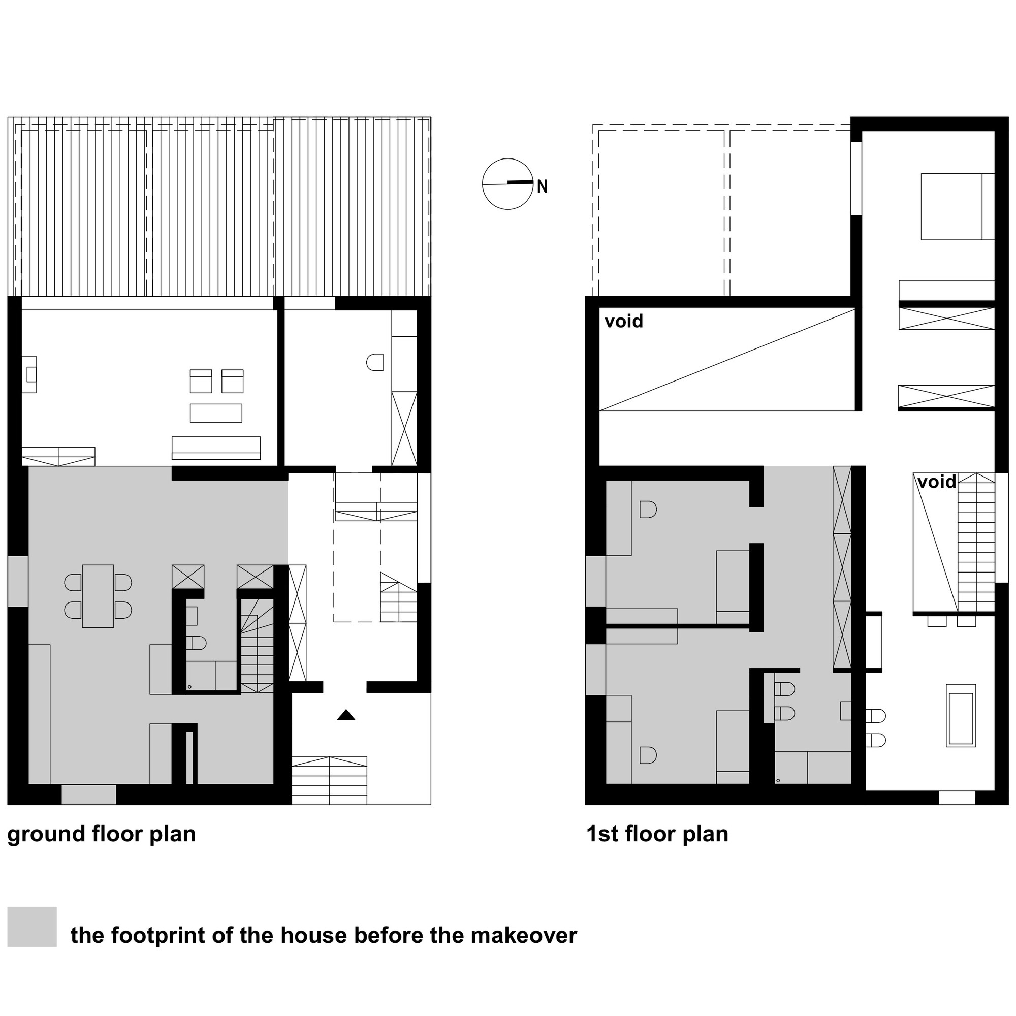 Black cube house kameleonlab archdaily for Floor plans with photos