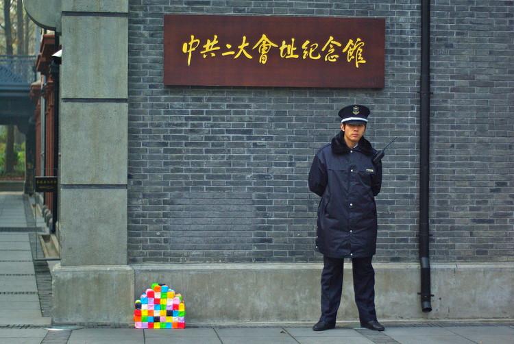 Os contrastes de Xangai mostrados pela instalação HOME, © Antonieta Landa