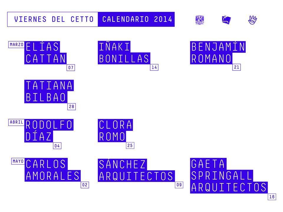 Viernes del Cetto / Ciclo Primavera 2014