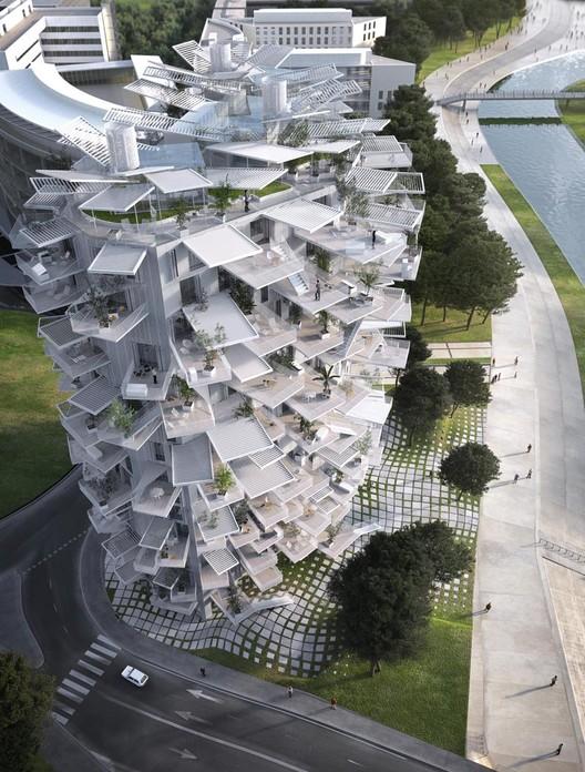 Equipo liderado por Sou Fujimoto diseña torre de vivienda inspirada en árboles para Montpellier, © RSI-studio