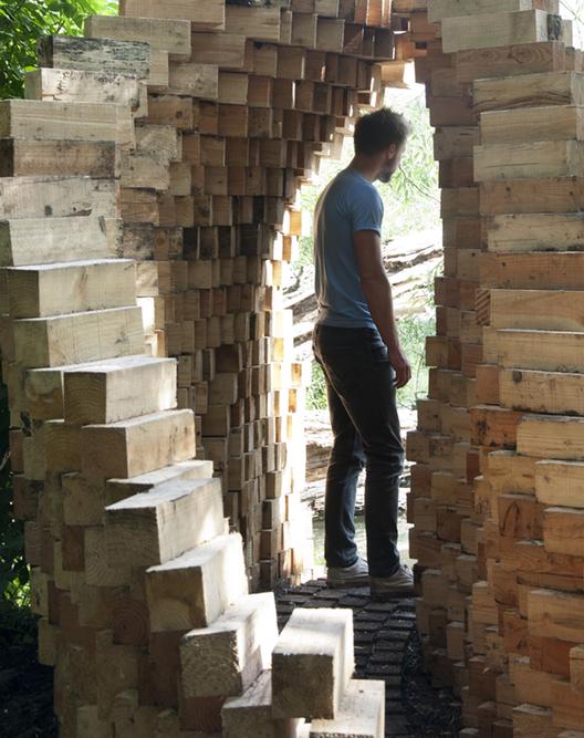 """""""Art Villes Paysage"""": Un traspaso de dos mil bloques de madera, Courtesy of Atomik Architecture"""