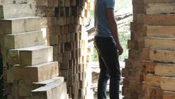 """""""Art Villes Paysage"""": Un traspaso de dos mil bloques de madera"""