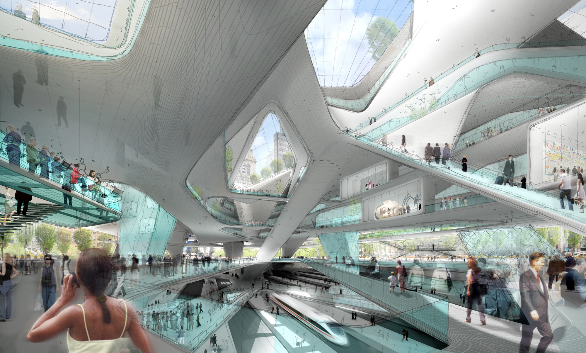 Michael Kimmelman Wins 2014 Brendan Gill Prize, Penn Station, Re-Imagined. Image Courtesy of Diller Scofidio + Renfro