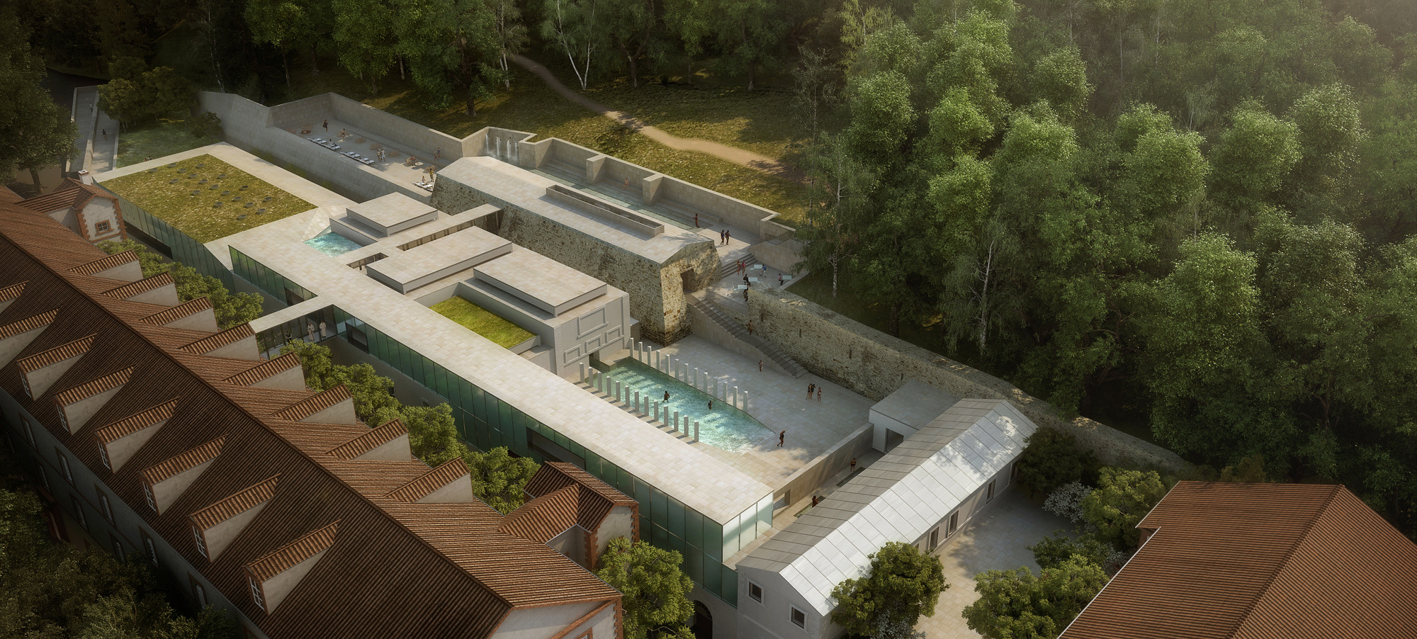 Francisco Mangado-Led Team Wins Thermal Bath Competition in Southern France, Courtesy of Francisco Mangado