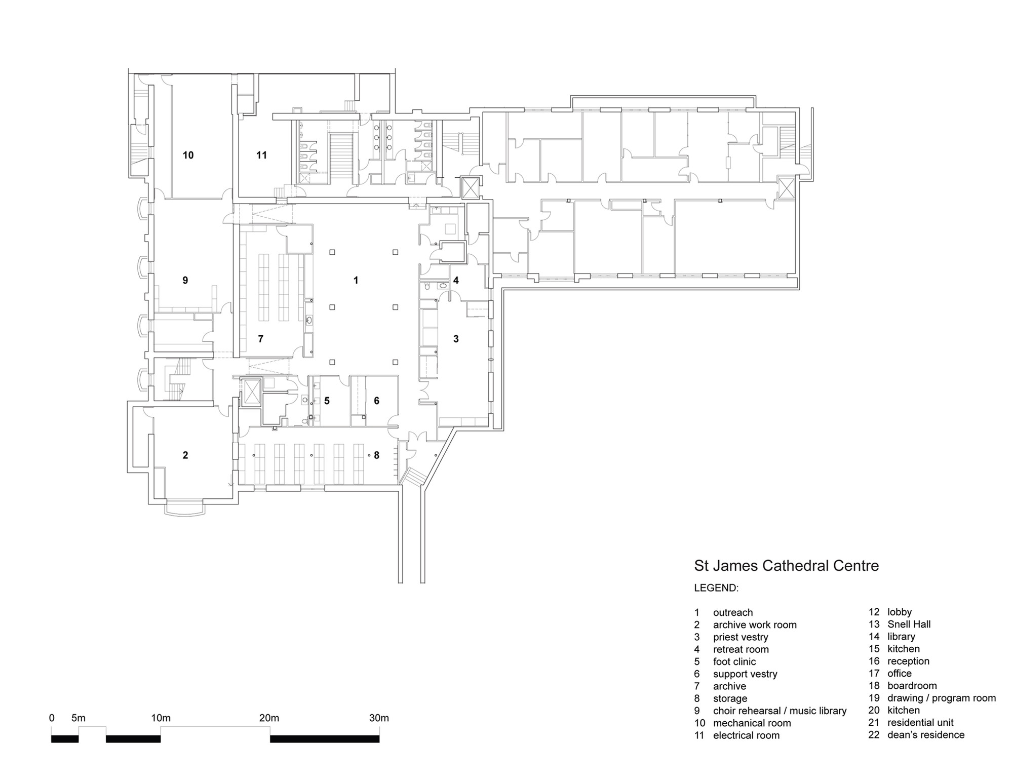 st james cathedral centre architectsalliance archdaily ground floor plan