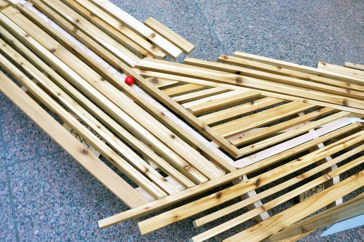Estudantes projetam estrutura de madeira inspirada na transformação das cidades, Cortesia de John Dwyer