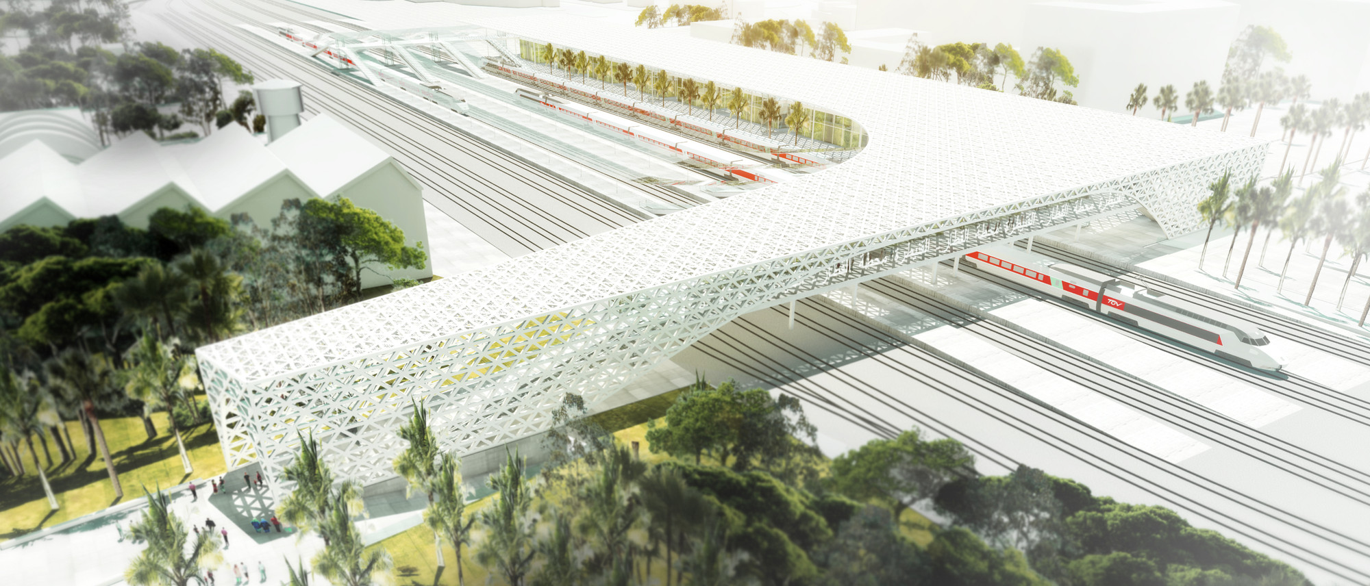 Silvio d'Ascia Wins Competition to Design Morocco Rail Station, Courtesy of Silvio d'Ascia Architecture and Omar Kobité