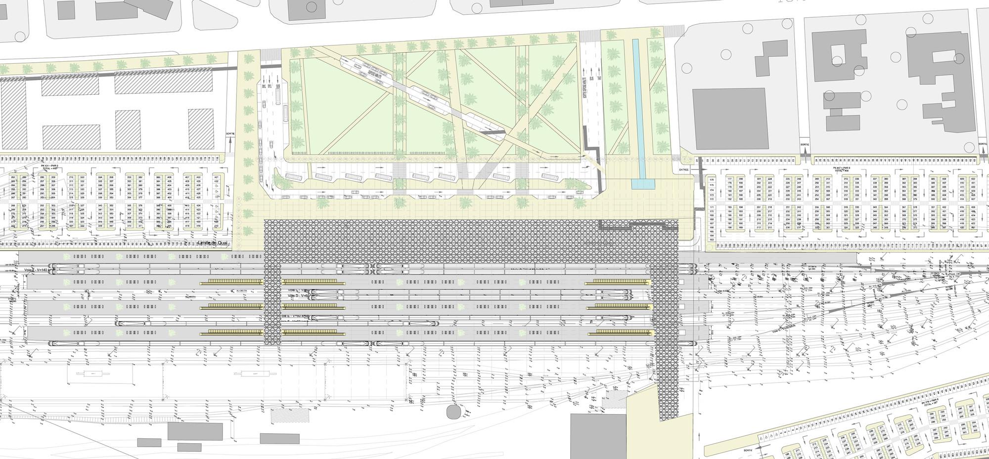 Silvio Du0027Ascia Wins Competition To Design Morocco Rail Station,Site Plan  With Urban