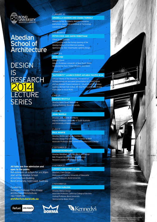 Abedian School of Architecture Lecture Series 2014
