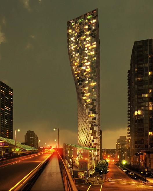 Antoine Predock and Bjarke Ingels Awarded 2014 RAIC Honorary Fellowships, Beach & Howe Tower in Vancouver. Image © BIG