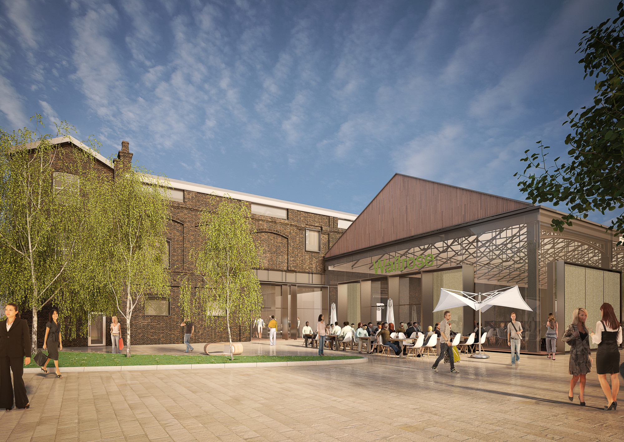 Bennetts Associates Unveil Plans for Latest Development in London's King's Cross, Visualisation. Image © Bennetts Associates