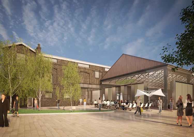 Bennetts Associates divulga o mais recente projeto para King's Cross em Londres, Visualisation. Image © Bennetts Associates