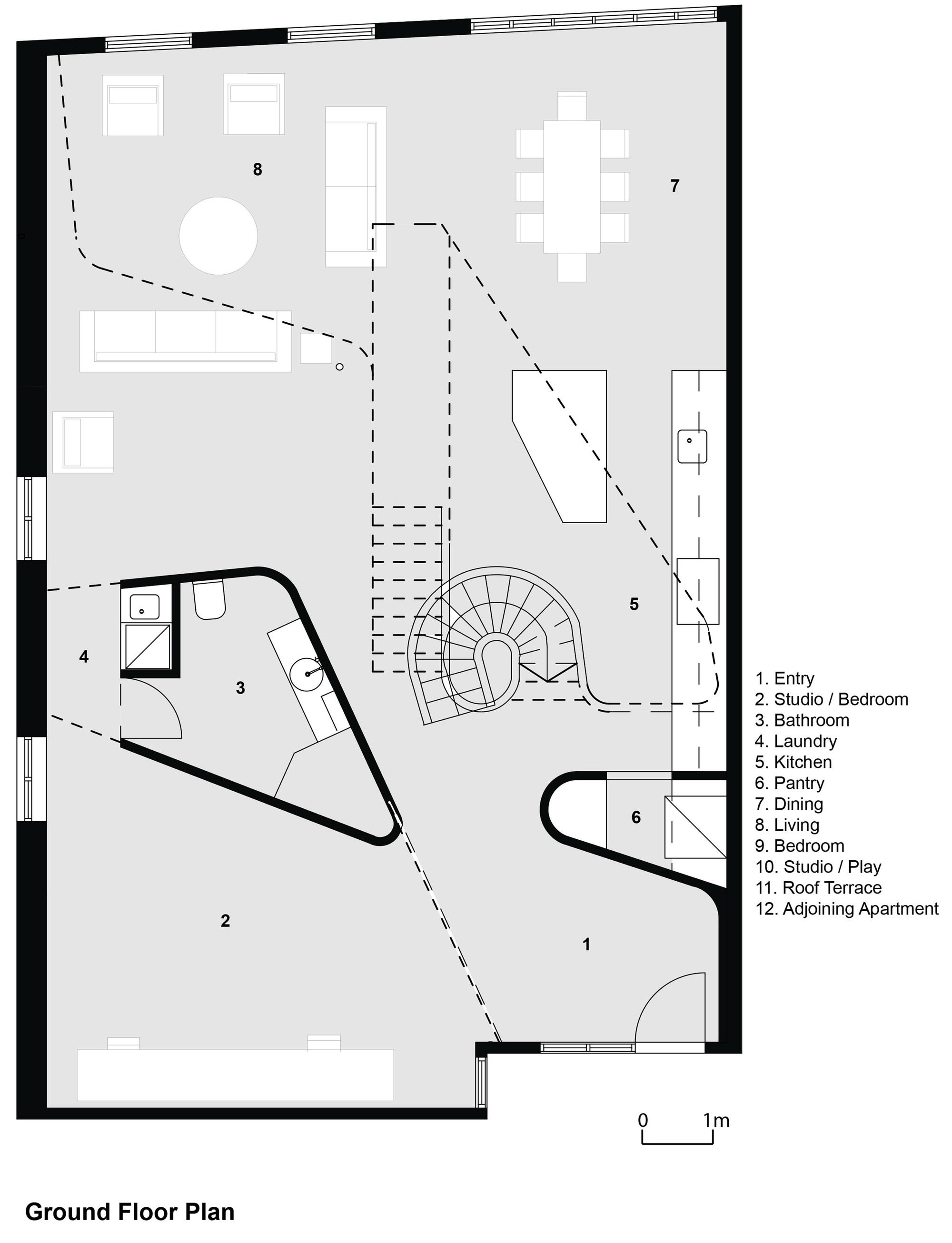 Loft Apartment Melbourne,Ground Floor Plan