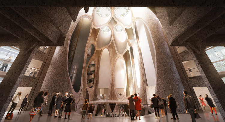 Heatherwick transformará antigos silos da Cidade do Cabo em um Museu de Arte Contemporânea, Interior. Image © Heatherwick Studio