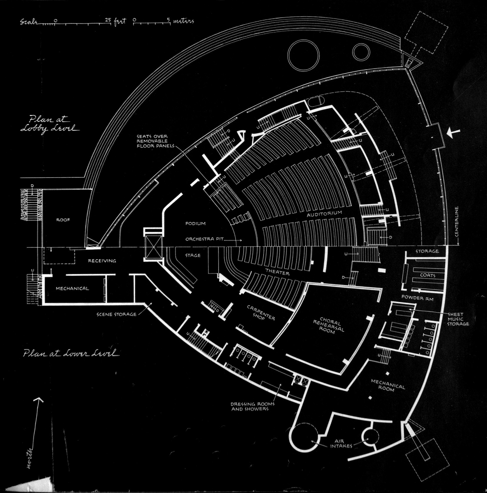 Ad Classics Kresge Auditorium Eero Saarinen And Associates Pin By Electronic Products Magazine On Circuit Diagrams Pinterest Plan Showing Lobby Lower Level