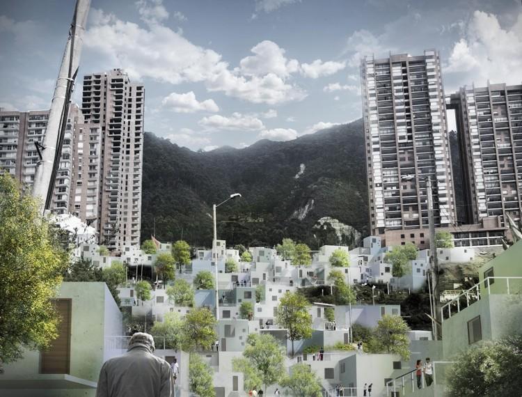 """Inter-Active Dwellings"" em Bogotá: construindo bairros baseados em redes sociais, Cortesia de  Paolo Francesco Ronchi"
