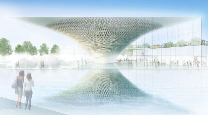 Shigeru Ban es Seleccionado Para Diseñar el Centro de Patrimonio Mundial Monte Fuji, Courtesy of Shigeru Ban Architects
