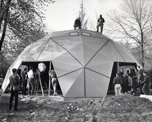 Buckminster Fuller's Geodesic Dome Home to be Restored as Museum, Buckminster Fuller's Carbondale dome home, via FullerDomeHome.org