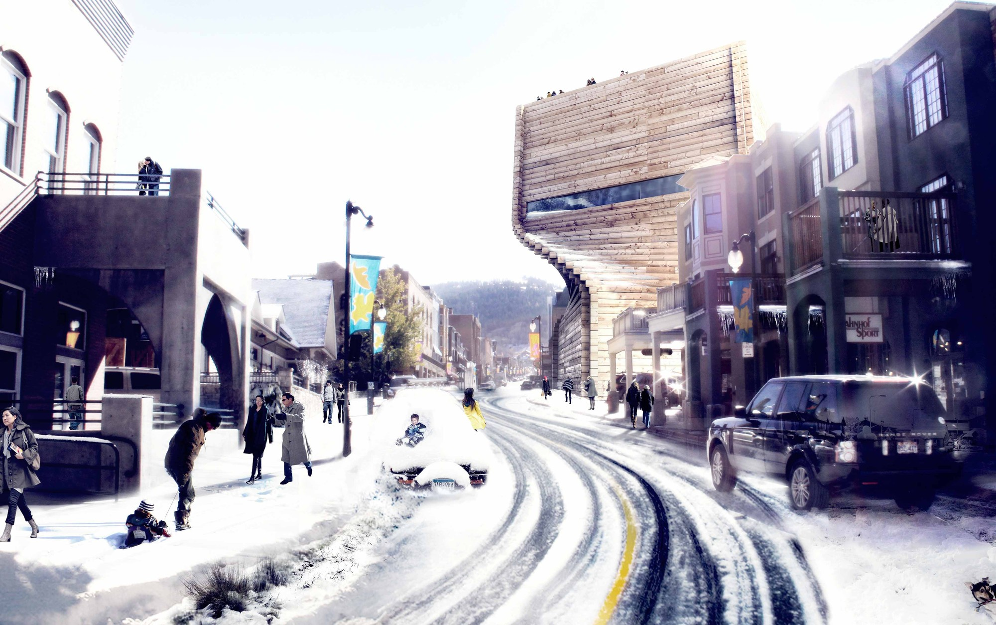 Did Park City Blow It With BIG's Kimball Art Center?, The original design for the Kimball Art Center. Image Courtesy of Bjarke Ingels Group (BIG)