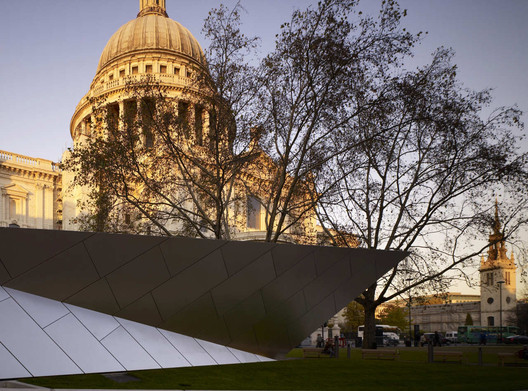 Sight lines to St Paul's Cathedral are the most fervently protected views in London. Image © Make Architects