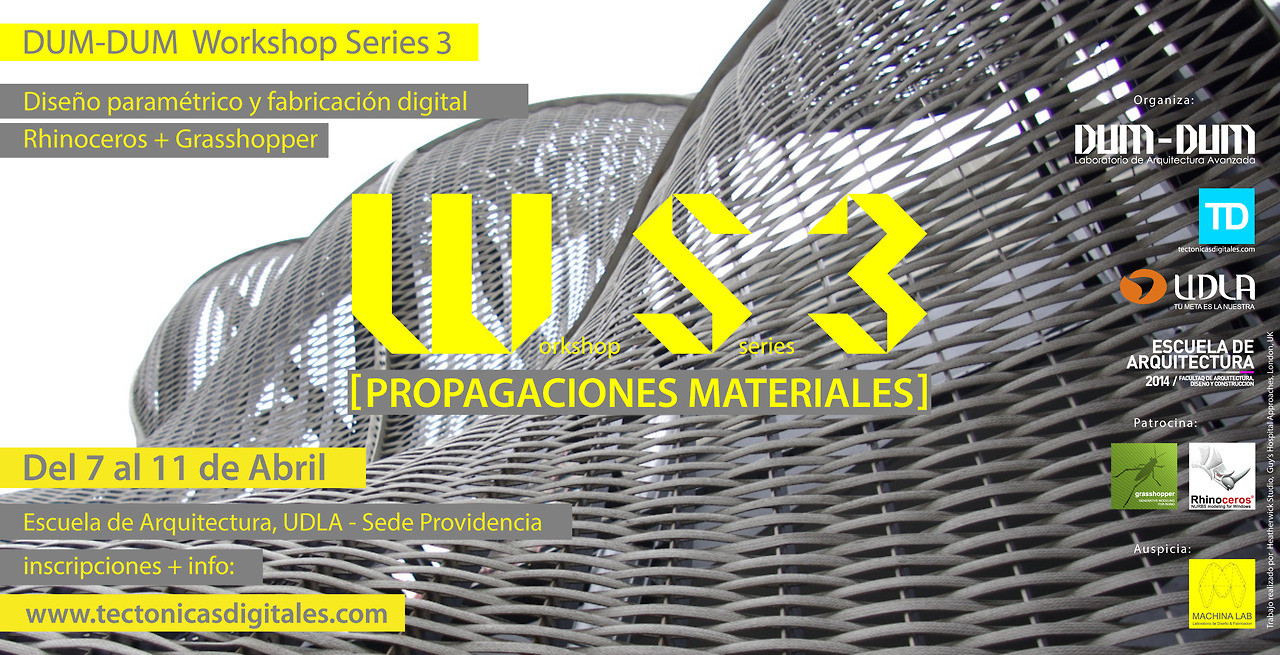 "WORKSHOP SERIES 3: ""Propagaciones Materiales"", Santiago- Chile / ¡Sorteamos un cupo!, Courtesy of Dum Dum Lab"