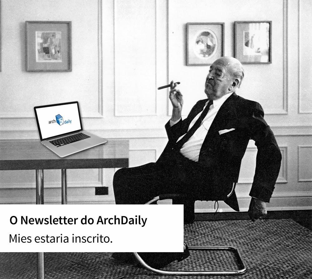 Assine agora o nosso newsletter  e receba as últimas notícias do mundo da arquitetura: Você pode ganhar adesivos Archdaily Brasil!, © ArchDaily Brasil