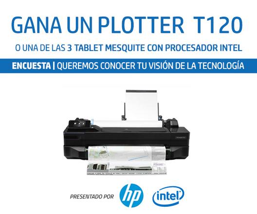 Gana un Plotter y 3 Tablets con HP, Intel y Plataforma Arquitectura: ¿Cómo usas la tecnología en tu oficina?