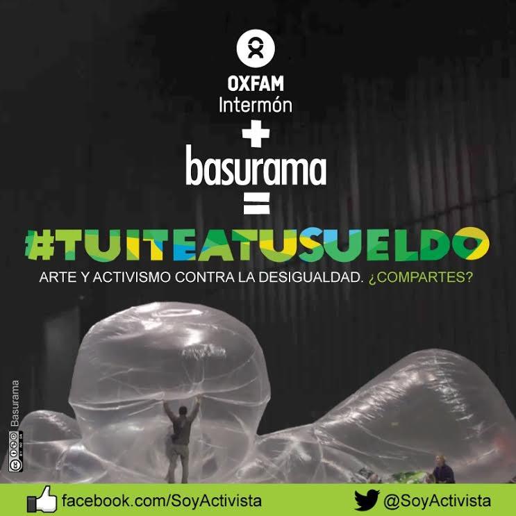 Instalación Urbana Oxfam + Basurama: #tuiteatusueldo, Courtesy of Oxfam Intermón