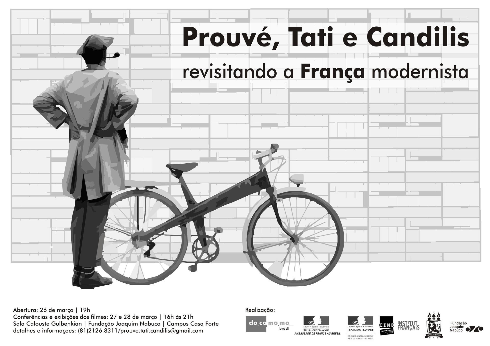 """Evento """"Prouvé, Tati e Candilis - Revisitando a França modernista"""", em Recife"""
