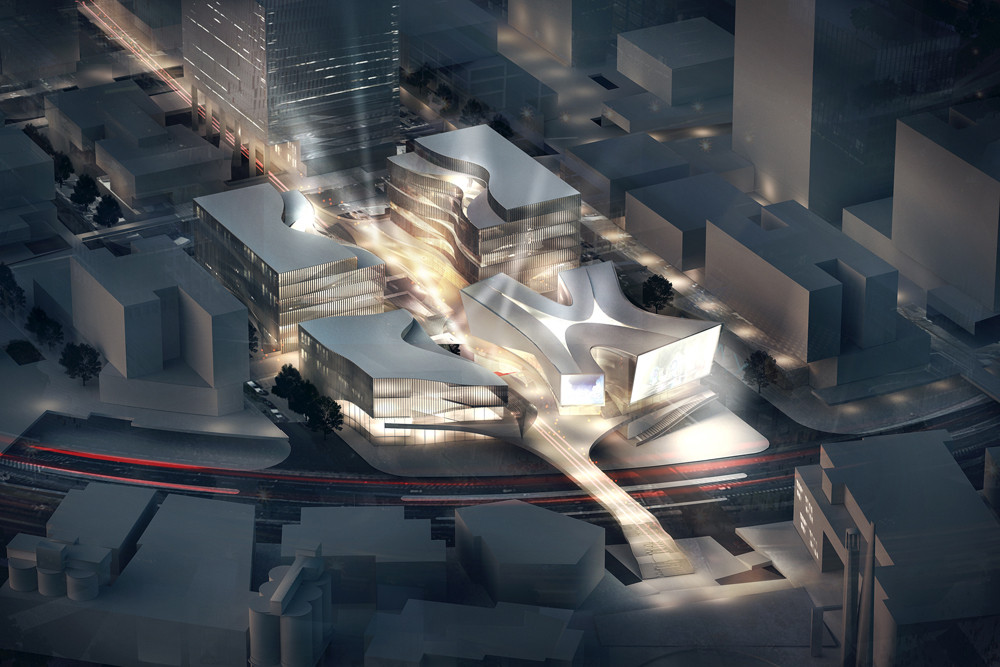 """3XN Designs """"DreamCenter"""" Entertainment Hub for Shanghai, © 3XN Architects"""