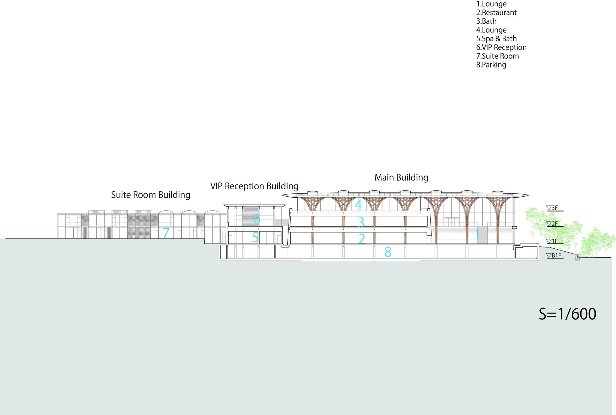 Gallery Floor Plans Gallery Of Nine Bridges Country Club Shigeru Ban