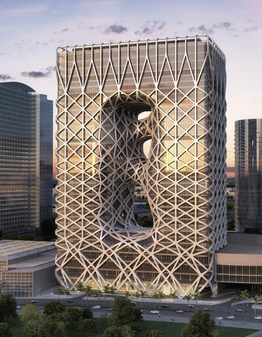 Zaha Hadid projeta hotel de luxo em Macau, North Elevation. Image © Zaha Hadid Architects; 2014 Melco Crown Entertainment Limited