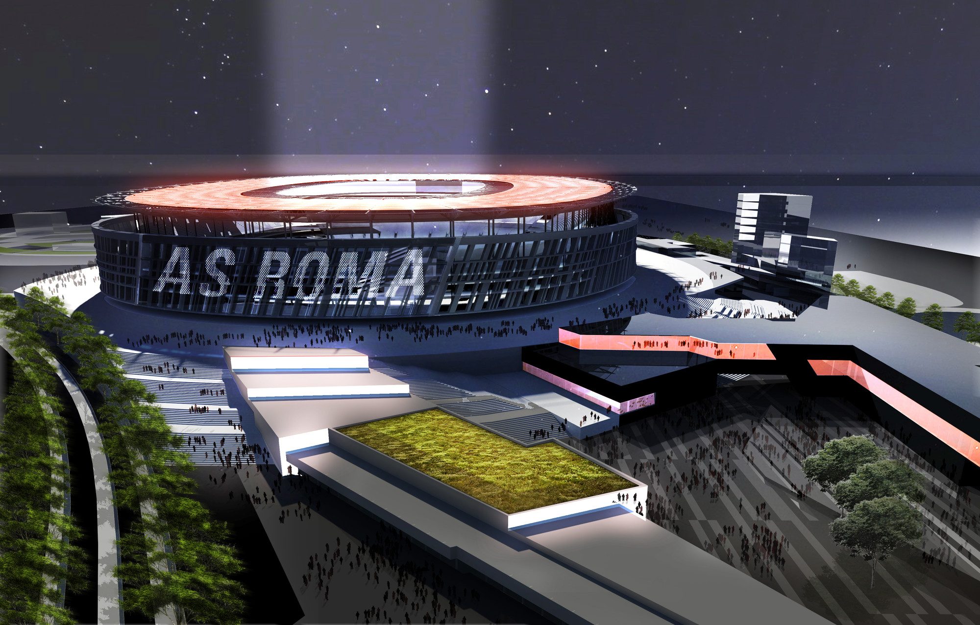Woods Bagot Unveils Colosseum-Inspired Stadium for AS Roma