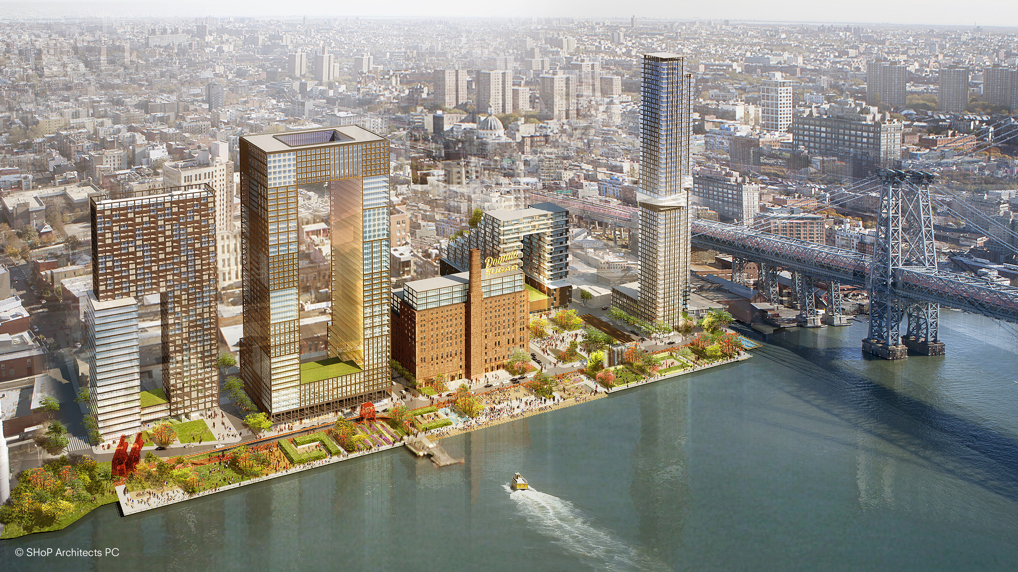 Fast Company Names Top 10 Most Innovative Practices in Architecture, Domino Sugar Factory Master Plan Development / SHoP Architects