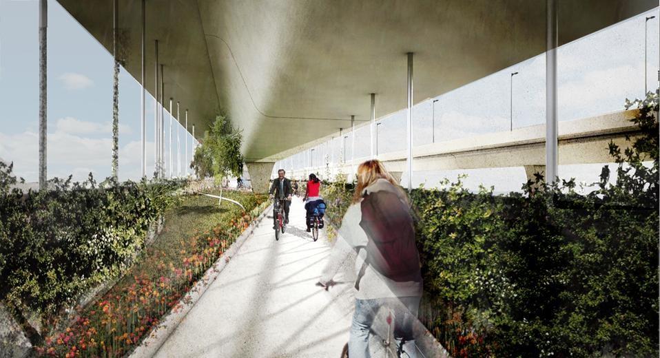 Proyecto de Ciclopista Aérea por BAAQ´ / Ciudad de México, Cortesía de BAAQ´